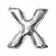 Folien Luftballon Buchstabe X Geburtstag Silber Hochzeit Party Deko Ballon - silber