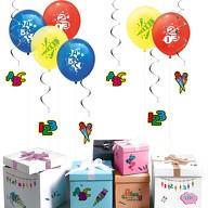 Schuleinführung Schulanfang Einschulung Deko Set - Luftballons + Deckenhänger Girlanden + Sticker