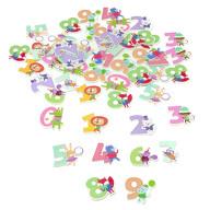 50x Holz Knöpfe Tiere und Zahlen 0 bis 9 Kinderknöpfe Buttons Nähen Kleidung Basteln Deko Einschulung