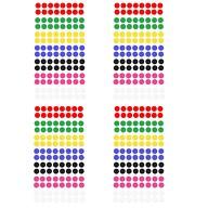 448 Markierungspunkte Klebepunkte Sticker Aufkleber - 7 Farben
