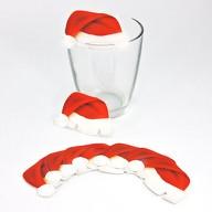 10x Weihnachtsmann Mütze für Gläser Glas Tisch Deko Advent Weihnachten