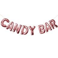 Candybar Folienballon Girlande JGA Junggesellinnenabschied Hochzeit Geburtstag Party Deko rosé gold
