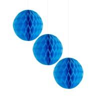 3 Wabenbälle Honeycomb Balls Papier Hochzeit Geburtstag Baby Shower Party Papier Deko - dunkelblau