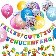 Schuleinführung Schulanfang Einschulung Deko Set - Girlande + Luftballons + Konfetti