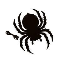 1x Filz Spinne als Untersetzer Tisch Deko Hängedeko Halloween Party - schwarz