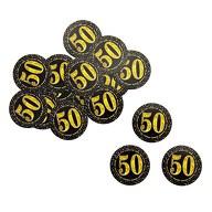 Konfetti Zahl 50 Geburtstag Jubiläum Hochzeitstag Tisch Deko Streudeko - schwarz gold
