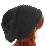 Long Beanie Jersey Mütze Slouch XXL Mützen - wrinkled grau