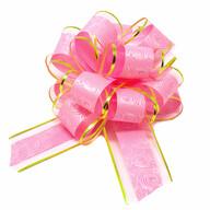 Geschenkschleife Deko Schleife für Geschenke Tüten Zuckertüte Weihnachten Geschenkdeko - rosa gold