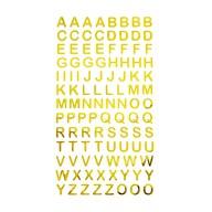 ABC Alphabet Buchstaben Sticker Aufkleber zum Basteln Spielen Bekleben von Einladungen - gold