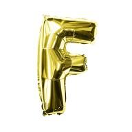 Folien Luftballon Buchstabe F Geburtstag goldene Hochzeit Party Deko Ballon - gold