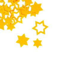 24 Filz Sterne Weihnachtsdeko Tischdeko Weihnachten 3 Motive - gelb