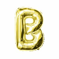 Folien Luftballon Buchstabe B Geburtstag goldene Hochzeit Party Deko Ballon - gold