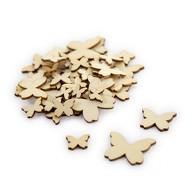 50 Holz Schmetterlinge Holzdeko Tischdeko Streudeko für Ostern Geburtstag JGA Hochzeit Basteln Echtholz