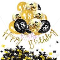 18. Geburtstag Party Feier Deko Set - Konfetti Ballons + Girlande + Konfetti