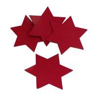 4 Filz Untersetzer Sterne Glasuntersetzer Weihnachtsdeko Ø 20cm - rot