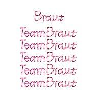 Braut + Team Braut Strasssteine Sticker Set JGA Hochzeit Aufkleber für Geschenke Schuhe uvm. - pink