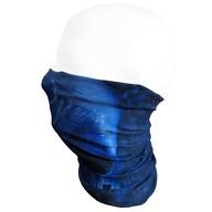 Multifunktionstuch Schlauchtuch Halstuch Loop Mundschutz Outdoor Motorrad - Blau mit Totenkopf