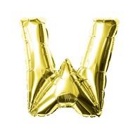 Folien Luftballon Buchstabe W Geburtstag goldene Hochzeit Party Deko Ballon - gold