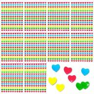 1500 Herz Sticker Herzen Aufkleber Glänzend Scrapbooking - bunt