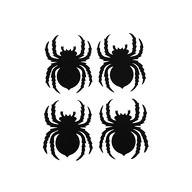 4x Filz Spinne als Untersetzer Tisch Deko Hängedeko Halloween Party - schwarz