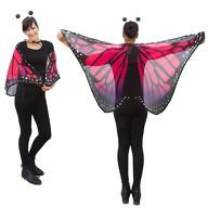 Schmetterlingsflügel Umhang Schmetterling Kostüm Karneval - lila pink