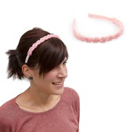 Haarreifen Blumen Prinzessin JGA Tanzmarie Fasching Karneval rosa