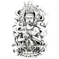 Temporäres Tattoo Klebetattoo Tättowierung - Buddhism