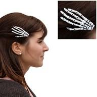 Skelett Hand Haarspange Spange Haarklammer Haarschmuck Halloween Karneval Fasching Party