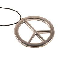 Peace Kette Hippie Peace Anhänger Flower Power 70er Jahre