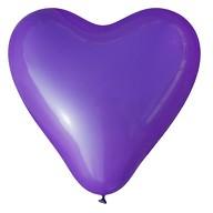 Herz Luftballons Hochzeit JGA Deko Ballon - lila