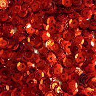 1400 Pailletten Konfetti gewölbt rot
