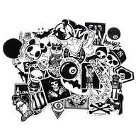 100 Vinyl Graffiti Sticker Aufkleber Set - Mix 3