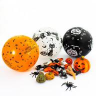 15x Luftballons für Halloween Gruselige Horror Feier Party Deko in Weiß, Schwarz und Orange