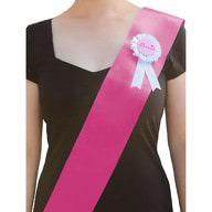 Schärpe Braut Brosche JGA Junggesellinnenabschied Hen Party pink