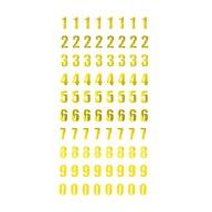 Zahlen Sticker Zahl 0 - 9 Aufkleber zum Basteln Spielen Bekleben für Geburtstag Jubiläum - gold