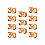 10 Stk. Konfetti 30 Geburtstag Jubliäum Zahl 30 Streudeko Tisch Deko - roségold