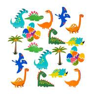 Dino Konfetti 18 Stk. bunt Kinder Geburtstag Dekoration Jungs Dinosaurier Tisch Deko Streudeko