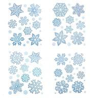 76 Schneeflocken Sticker Schnee Fenster Aufkleber Weihnachtsdeko