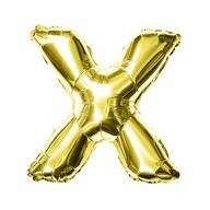Folien Luftballon Buchstabe X Geburtstag goldene Hochzeit Party Deko Ballon - gold