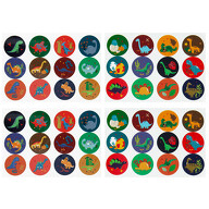 48 Dino Sticker Dinosaurier Aufkleber für Kinder Jungs zum Kindergeburtstag Spielen Basteln