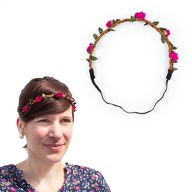 Blumen Haarband Stirnband Haarschmuck Bohemia Kopfschmuck - pink