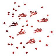 Herz & Love Konfetti Herzen Tischdeko Liebe Hochzeitsdeko - rot