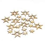 18 Holz Sterne Holzdeko Weihnachtsdeko Tischdeko Weihnachten - Natur