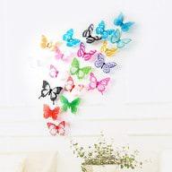 3D Schmetterlinge 12er Set Wandtattoo Wandsticker Wanddeko - Mix 1
