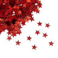 Stern Konfetti Über 500 Stk Tischdeko Weihnachten Fasching Party - rot