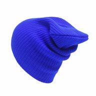 Long Beanie Mütze XXL Damen Herren Kinder Winter Mütze - blau