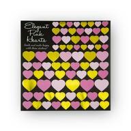 76 Herz Sticker Aufkleber mit Glitzer Scrapbooking Verzieren - gold pink