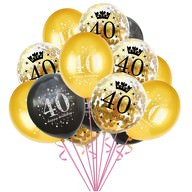 Konfetti Luftballon Set Zahl 40 Geburtstag Happy Birthday 15 Ballons