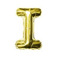 Folien Luftballon Buchstabe I Geburtstag goldene Hochzeit Party Deko Ballon - gold