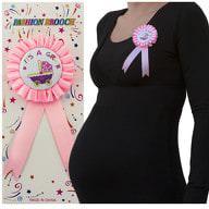 Brosche Abzeichen Schwangerschaft Mama Baby Shower its a girl - rosa